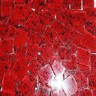 100 Blueriverglass Red Ladybug  Mosaic Glass Tiles art craft SUPPLIES