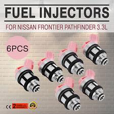 Set 6pc Set Fuel Injectors For Nissan 3.3L Frontier Pathfinder 1996-2004 Look