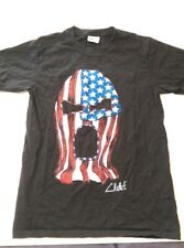 Wrestling Mask Patriotic Men's T-Shirt Size Small Graphic Short Sleeve Black