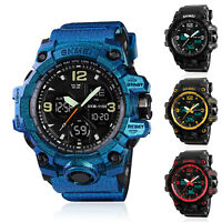 SKMEI Men's Digital Tactical LED Chime Date Dual Time Analog Sport Quartz Watch