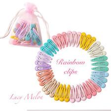 Gel hair clips girls kids toddler pin hair pretty hairpin baby bulk snap pink