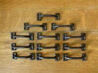"12 BROWN 3.5"" MINI DRAWER DOOR CABINET PULLS HANDLE RUSTIC ANTIQUE-STYLE IRON"