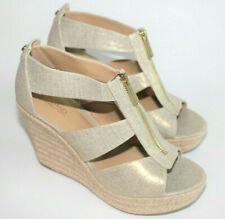 Michael Michael Kors Womens Damita Gold Metallic Wedge Sandals Size 7M 7 7.5 NEW