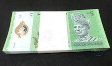 MALAYSIA 5 RINGGIT X 100 PCS, BUNDLE, POLYMER, 2012, P-52, UNC