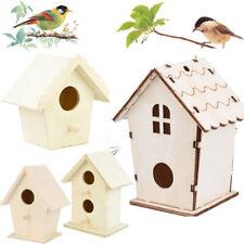 Pet Bird House Nest Box Wooden Nest House Wood Birdhouse Garden Bird Box Hot