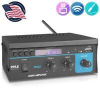 Pyle PCA2 Mini Computer Stereo Power Amplifier USB/SD slot FM w/remote