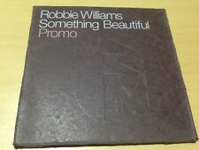 ROBBIE WILLIAMS - SOMETHING BEAUTIFUL PROMO CD SINGLE (ACC.) 2 TRACK CD
