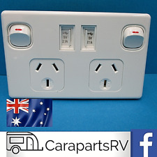 CARAVAN Double Pole Double Power Point with Twin USB Outlets...Free Delivery...