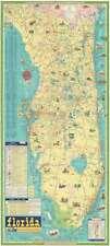 1960 Rand McNally Pictorial Road Map of Florida