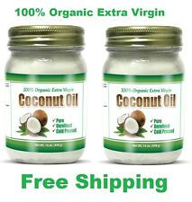 100% Organic Extra Virgin Coconut Oil Unrefined Cold Pressed Gluten Free 2 Pack