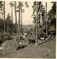 2 WW Waldlager bei Borissow mit Blick auf Beresinatal Juli 1941