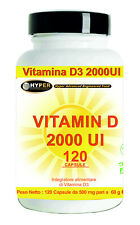 Vitamina D3 2000 UI 120 Capsule Sistema Immunitario Fornitura 4 Mesi Integratore