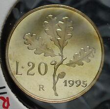 1995  Repubblica Italiana 20 lire  FONDO SPECCHIO  da divisionale