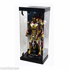 "Acrylic Display Case Light Box for 12"" 1/6th Scale IRON MAN 3 Tony Stark Figure"