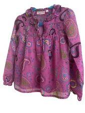 Girl's Tunic/mini Dress By Sugar Pink  Age 6 - 7 VGC