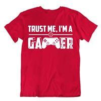Trust Me I'm A Gamer T-Shirt Novelty Slogan Nerd Tee Teacher Joke Shirt