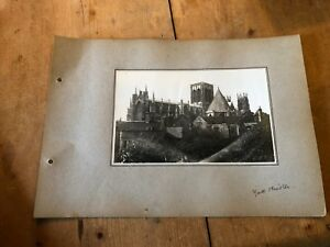 ANTIQUE/VINTAGE PHOTO OF YORK MINSTER CATHEDRAL (ENGLAND) A4-SIZED
