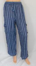 Fair Trade Combat Cargo Trousers Gringo Blue Hippy Striped Cotton Hippy XL