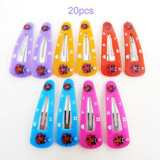 20pcs Girls Baby Bow Hair Clips Bendy Ladybird Hairpins Prong Hairclips 2016