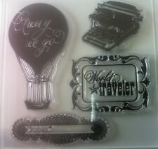 Sizzix Everyday Eclectic  4 Stamps and 4 Matching Framelits Dies
