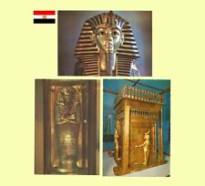 Set of 8 - 1970s Egypt - King Tutankhamen Egyptian Museum Cairo Postcards NM/MT