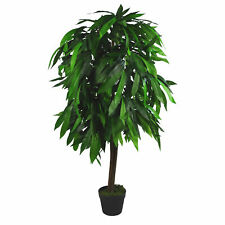 120cm (4ft) Tall Large Artificial Mango Tree Plant LEAF-7106