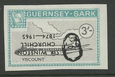 Guernsey SARK 1966 Churchill 3s plane Viscount PROOF INVERTED Ovpt
