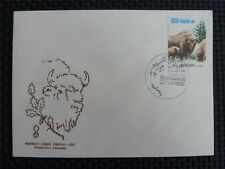POLEN FDC BISON BISONS WISENT WISENTE BUFALLO COVER c4504