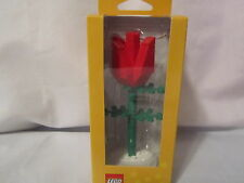 Lego Red Tulip Flower Bricks Set  Collectible Home Accent Accessory Decor