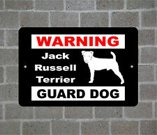 Jack Russell Terrier warning Guard Dog breed metal aluminum sign
