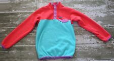PATAGONIA Long Sleeve SYNCHILLA SNAP T Fleece Pull Over Coat Jacket Green Red 14