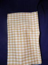 Fabric-Cotton-GOLD/ TAN & WHITE  CHECK / PRINT-one yard