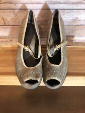 Aerosoles Womens Tan Tuscany Mary Jane Heels Pumps Size 8.5
