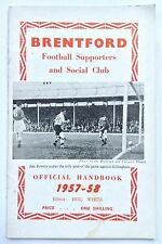 Brentford FC 1957-1958 Supporters Club Official Handbook