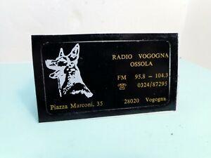 Stichers RADIO VOGOGNA OSSOLA (1) - Adesivo anni 70 - Vintage ++++++++++++++++