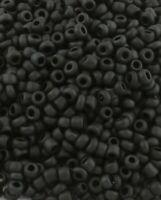 20g Rocailles 2mm Glasperlen Schwarz Matt Schmuck Basteln Seed Beads A51#20g