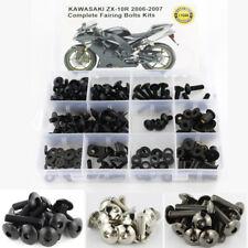 Complete Fairing Bolts Kit Screws Nuts For Kawasaki ZX-10R ZX10R 2006-2007 Black