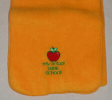 My Virtual Public School Bright Orange Scarf Red Apple 58 in Length 9 in Width