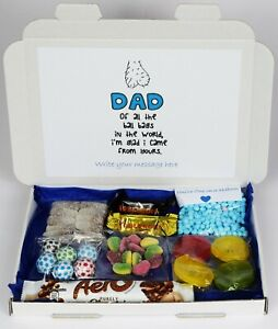 Personalised Fathers day Funny Adult Message Sweets Gift Hamper For Dad Daddy 1