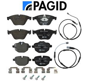 Front Brake Pads & Rear Brake Pads Set OEM Pagid + Sensors BMW 535ix 535d 535i