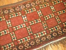 Antique Turkoman Turkmen Ersari Torba Panel Rug Size 4'9''x1'3''