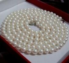 36 Inch AA 7-8mm White Freshwater Cultured Pearl Necklace