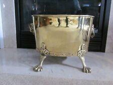 Vintage Solid Brass Oval Planter