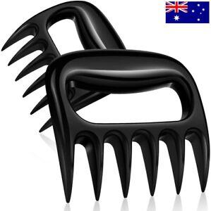 Bear Claws Paw BBQ Meat Shredder Pulled Pork Handler Fork Toss Lift Tongs 2 Pcs