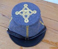 civil war confederate bummer forage hat kepi with 3 braids Large