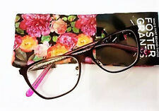 New! Foster Grant Reyna Wine 2.75 Reading Glasses W/Soft Case. FREE Ship!