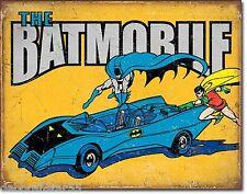 BATMAN metallo segno la Batmobile vintage fumetti GRANDI TIN Muro Poster Targa 2028