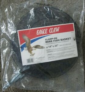 """EAGLE CLAW Clamp On Wire Fish Basket - 14"""" X 25"""" - Black"""