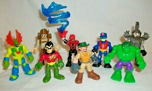 Playskool Imaginext Transformers Marvel Super Heros Etc  8  Figures LOT