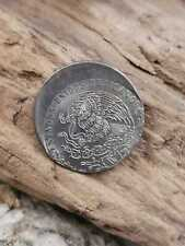 1982 Mexico Nickel Coin 20 Cents Madero struck off-center KM# 442